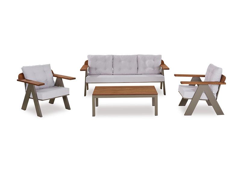 Cross Aluminium Sofa Set